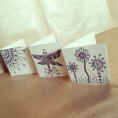 Zentangle & doodle. Flower, sun and lullaby illustration for greeting cards