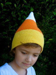 FREE Candy Corn Crochet Hat | Crochet Pattern | YouCanMakeThis.com