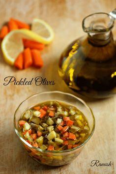 طريقة عمل مخلل الزيتون بالصور - Pickled olives recipe