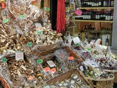 Shop at the Central Market in Florence Italy for Tuscan specialities.