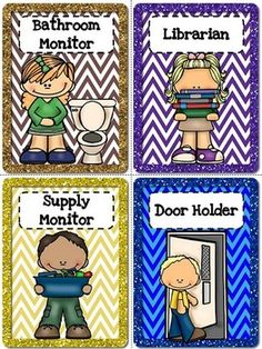 """Classroom jobs are an easy and fun way to teach students about responsibility. This product contains classroom jobs and their descriptions, classroom job application, job cards, editable job cards, editable student name tags and the title poster """"Our Jobs"""" for your board."""