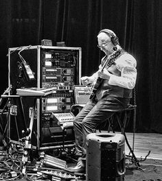 Robert Fripp's full employment plan has a sentimental side: despite all his success with rack effects, he still manages to make room for a couple of out-of-work stomp-boxes that helped him get his start.