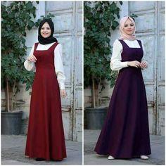 Dress Muslim Modern, Muslim Dress, Abaya Fashion, Knit Fashion, Fashion Dresses, Abaya Mode, Mode Hijab, Stylish Gown, Stylish Outfits
