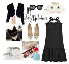 lazy saturday afternoon tea by reny-a on Polyvore featuring polyvore, fashion, style, Miu Miu, Yves Saint Laurent, Charlotte Olympia, Lanvin, Chopard, CÉLINE, Chanel, Hermès, Grace and clothing