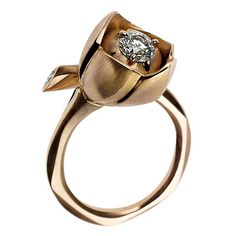 Gorgeous vintage rose, diamond ring.