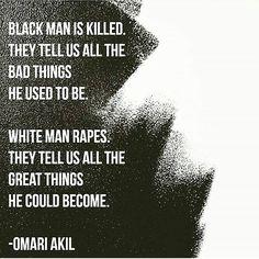 """#Repost @juliosalgado83 ・・・ """"Hombre negro es asesinado y nos dicen las cosas malas que el fué. Hombre blanco viola y nos dicen las cosas buenas que el puede ser."""" #blacklivesmatter"""