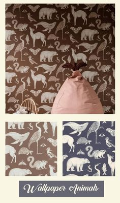 With her usual stunning richness in detail, the British illustrator Katie Scott has created three designs of wallpaper for them. Whether her subject has been shells, trees, or animals, the wallpapers display a breathtaking representation of both the animal and botanical kingdom. #ad Animal Wallpaper, Of Wallpaper, Azuma Makoto, Wallpaper Display, Flower Artists, Medical Journals, Big Fashion, Botany, Illustrator