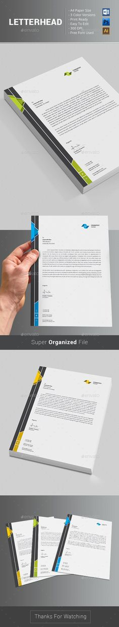 Buy Letterhead by themedevisers on GraphicRiver. Letterhead Word Template with super modern and Corporate look. Corporate Letterhead page designs are very easy to us. Letterhead Printing, Stationery Printing, Letterhead Design, Letterhead Template, Stationery Design, Letter Templates, Print Templates, Visiting Card Design, Creative Resume