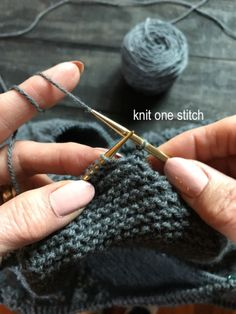 Icelandic bind off: a stretchy bind off that is good for larger projects where you don't want to use the stretchy sewn bind off