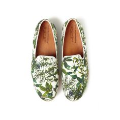 White Mountaineering Love Gaite Oxford Botanical Print Vibram Sole Opera Shoes