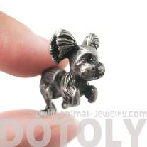 SALE - Fake Gauge Puppy Dog Shaped Stud Earrings in Silver $7.99 #puppies, #animals #dogs #jewelry #earrings