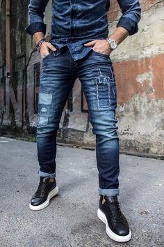 Denim Fashion, Fashion Pants, Estilo Denim, Style Masculin, Denim Jeans Men, Jeans Style, Men Casual, Menswear, Joggers