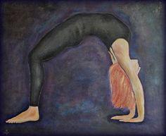 Urdhva Dhanurasana, mixed media on canvas, 120x100cm, sold