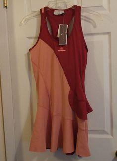 buy popular 81158 e42f3 Adidas Stella McCartney Barricade NY Tennis Dress Womens Medium F96560 Red  for sale online   eBay
