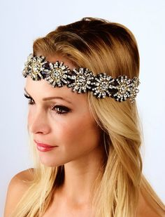 The Kaylen Headpiece- Black & Gold Leather-Small-AS SEEN ON SELENA GOM | Krown