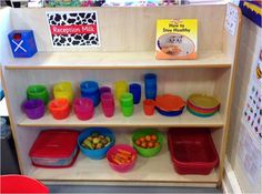 Snack area is easily accessible, children can help themselves & wash up. Snack for the week is visible, so no worries Classroom Snacks, Eyfs Classroom, Classroom Layout, Classroom Organisation, Classroom Design, Classroom Ideas, Preschool Layout, Preschool Rooms, Preschool Snacks