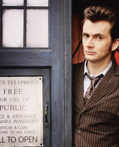 David Tennant. Man that hair.