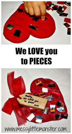 Messy Little Monster: We Love You To Pieces : Toddler Craft/ Keepsake