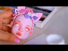 🌺Dool « Floral Rain» Face painting dolls/Роспись лица куклы🌺 - YouTube