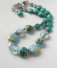 Wailua Falls Handmade Beaded Necklace