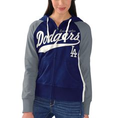 L.A. Dodgers G-III 4Her by Carl Banks Women's All World Full-Zip Hoodie - Royal