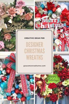 Super Easy Christmas Wreath Ideas Christmas Holidays, Christmas Wreaths, Christmas Decorations, Holiday Decorating, Decorating Ideas, Bow Making Tutorials, Making Ideas, Diy Wreath, Wreath Making