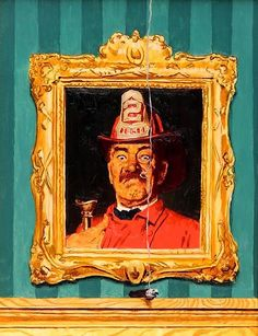 The Fireman, Study for Saturday Evening Post Cover   From a unique collection of figurative-paintings at https://mario.1stdibs.com/art/paintings/figurative-paintings/