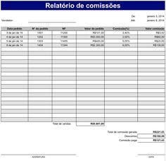 Meus Pedidos: Planilha Excel grátis para controle de Comissões
