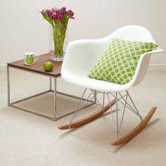 Rocking chairs rock! - Vitra Eames Rocking Chair in white http://www.utilitydesign.co.uk/vitra-eames-rar-rocking-chair