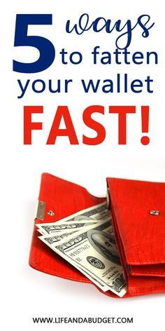 5 ways to get ahead of unexpected expenses fast. Make Quick Money, Ways To Save Money, Money Tips, Money Saving Tips, Living On A Budget, Frugal Living Tips, Budgeting Tips, Money Management, Extra Money