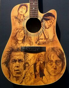 Custom painted acoustic guitar
