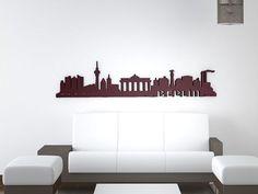 Bilder zu Skyline von Berlin als 3D Wandtattoo - Schilder mit individueller Beschriftung in edlem Design