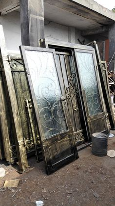 Custom design forged  wrought Iron front  doors iron doors iron  doors