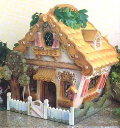 Gourd Gingerbread House - this would be cute painted on a rock. Description from pinterest.com. I searched for this on bing.com/images