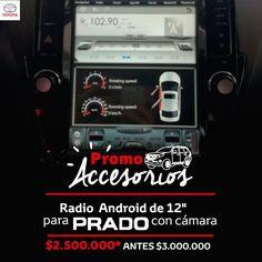 Queremos que tu prado luzca increíble, accesorízala con un super Radio Android de 12 pulgadas +cámara de reversa. http://ow.ly/wenj30dHVDl