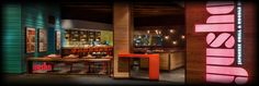 Yusho at Monte Carlo - Las Vegas // Hours: Wednesday, Thursday & Sunday - // Friday & Saturday - Las Vegas Eats, Las Vegas Trip, Monte Carlo, Thursday, Wednesday, Bend Goods, Restaurant Design, Outdoor Dining