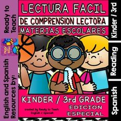 Easy Reading for Reading Comprehension in Spanish - spec. edit. - Subjects