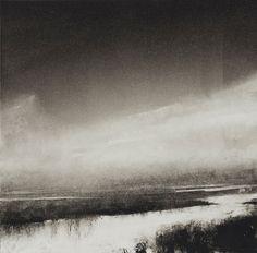 'Nisqually River', by artist ~ Wendy Orville ~ / Monoprint / Studio: Bainbridge Island, Washington