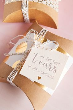 Awesome and FREE, DIY 'happy tears' tags for your wedding handkerchief gifts! With @fiskars_hq