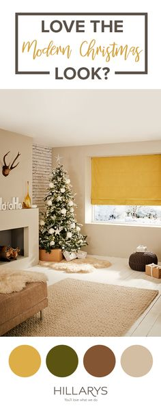 Clean and modern living room = more space for opening presents! Hillarys has a wide range of fabrics to suit every room in your home!