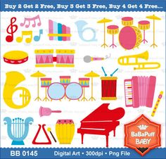Buy 2 Get 2 Free  Musical instruments Set 2 by babapuffbaby