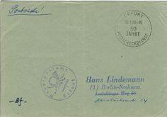 Erfurt 13-01-1959 Sonderstempel '50 Jahre Postscheckdienst'