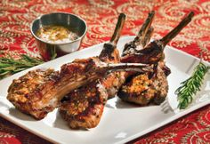 Grilled lamb chops by Chef Caitlin MacEachen Steininger. Lamb Chop Recipes, Veal Recipes, Grilling Recipes, Paleo Recipes, Cooking Recipes, Paleo Food, Grilled Lamb Chops, Lamb Dishes, Chops Recipe