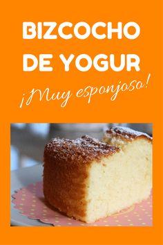 bizcocho de yogur muy esponjoso No Bake Desserts, Vegan Desserts, Flan, Diabetic Cake, Yummy Treats, Yummy Food, Yogurt Cake, Pan Dulce, Bread Cake
