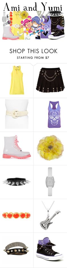 """Ami and Yumi (Hi Hi Puffy AmiYumi)"" by fabfandoms ❤ liked on Polyvore featuring Lauren Ralph Lauren, G·Six Workshop, Monet, Bling Jewelry and Converse"
