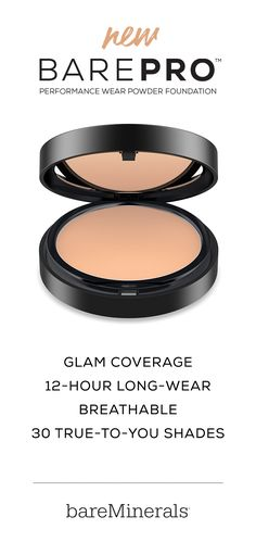 bareMinerals BAREPRO Performance Wear Powder Foundation is engineered for performance with glam coverage, 12-hour long-wear, and a breathable formula that won't clog pores or cause breakouts. BAREPRO is formulated with 90% vitamins and minerals and comes in 30 True-To-You shades designed for all ethnicities and skin tones.