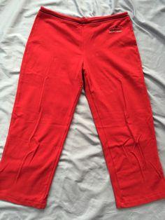 Ralph Lauren Polo Brand Cropped Cotton Logo Pants Sz M Elastic/drawstring Waist #LaurenRalphLauren #CasualPants $9.99