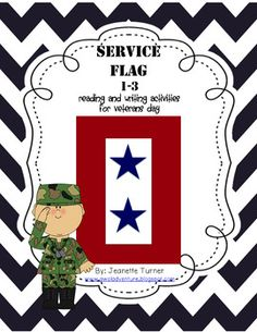 Thank you for downloading this packet! As a military spouse, Veterans Day is one of my favorite holidays! I hope you and your students enjoy learning a little about the history of service flags (aka Blue Star Flags) and the meaning behind them. Its so easy to pass up this important holiday with all of the fun Thanksgiving celebrations, but I hope this resource helps add variety to your current Veterans Day units.