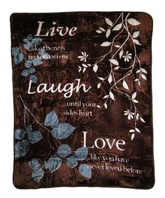 Loving this 'Live Laugh Love' High-Pile Oversize Luxury Throw Blanket on #zulily! #zulilyfinds