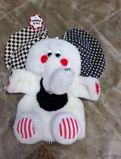 Baby Bright Starts Kids II Developmental Toy Peek A Boo Puppet Talk Elephant VTG #BrightStarts